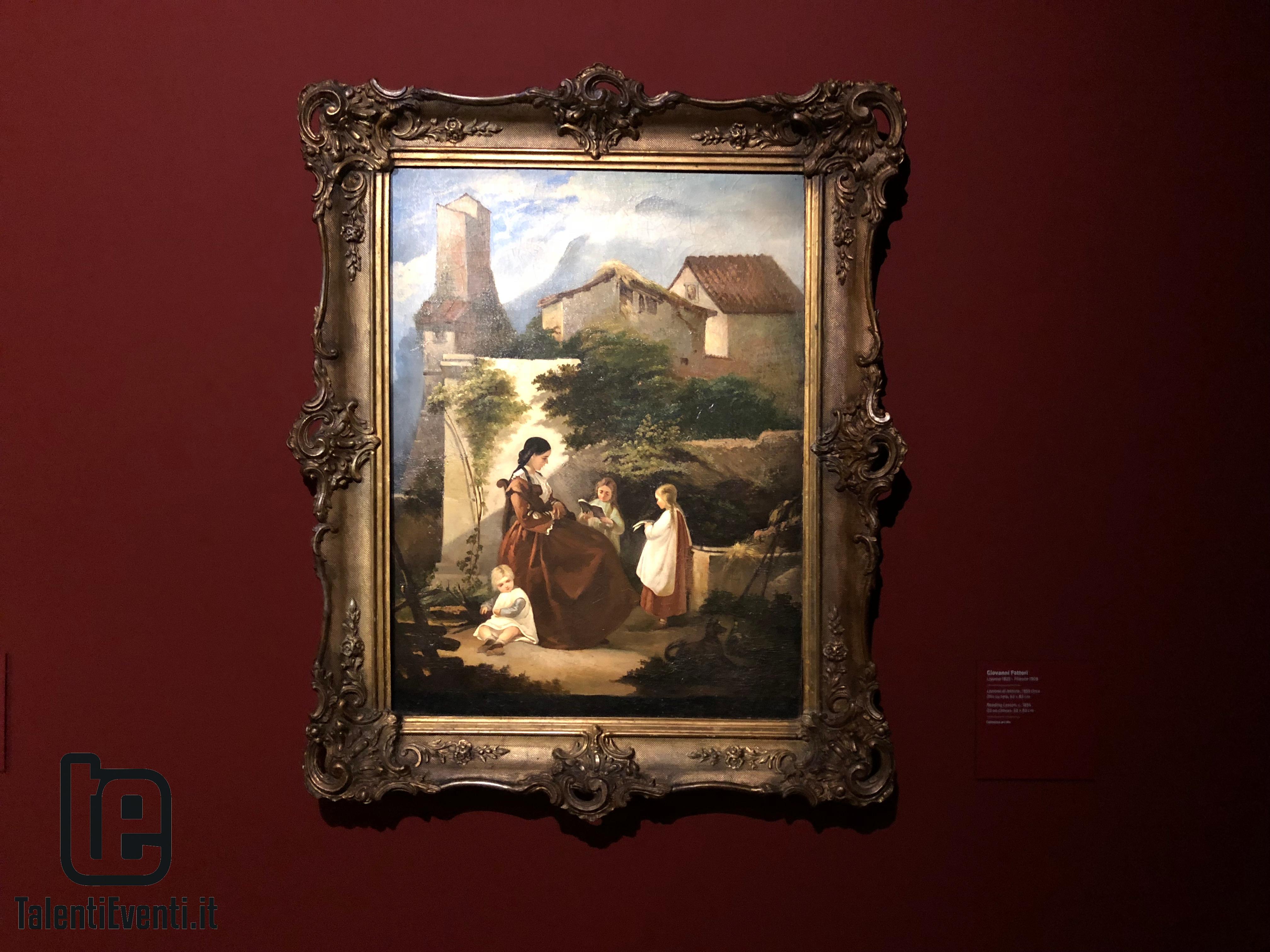 Giovanni Fattori - Lezione di lettura - 1855 circa