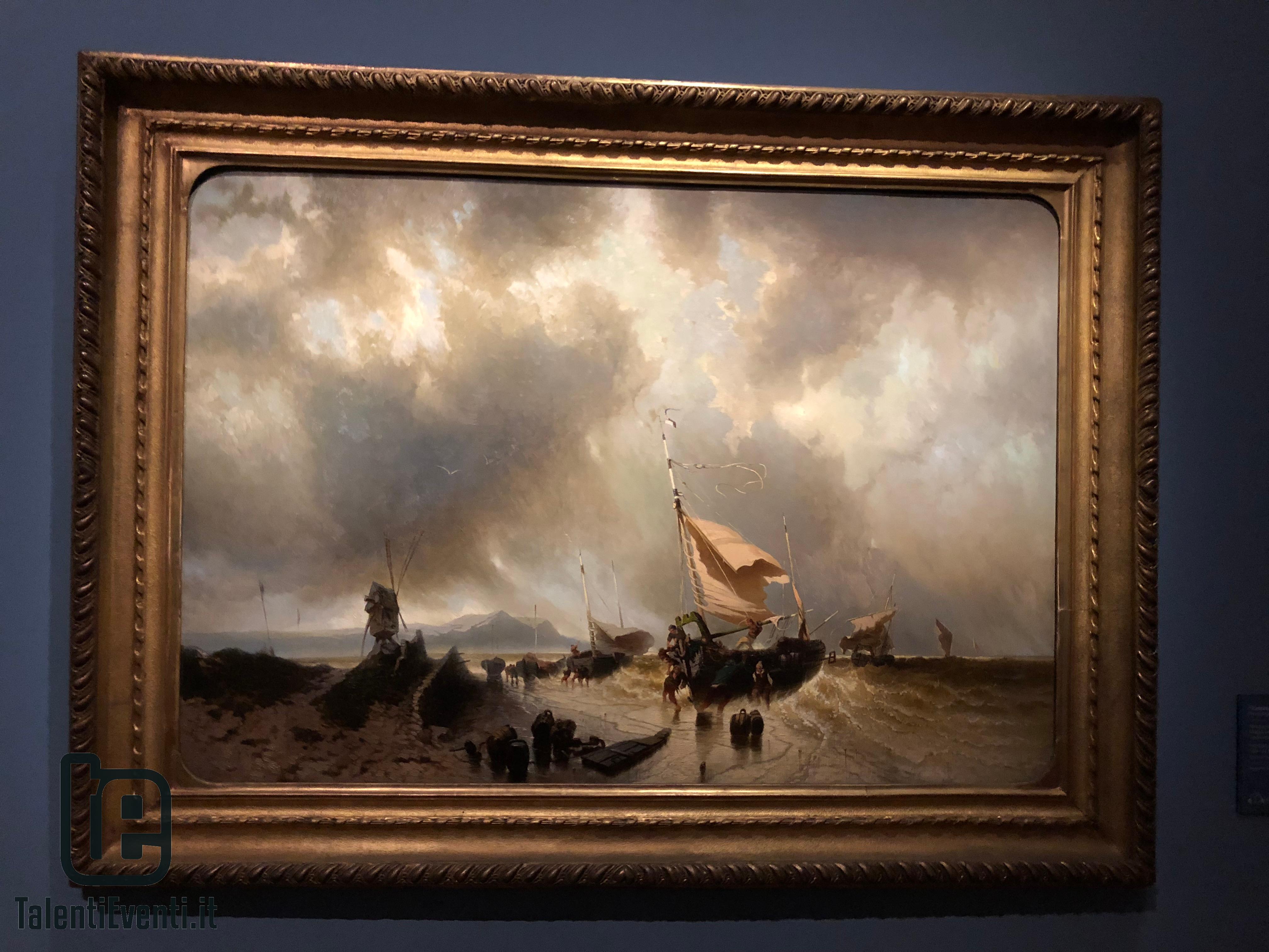 Francesco Gamba - Mare montante, partenza per la pesca - 1862