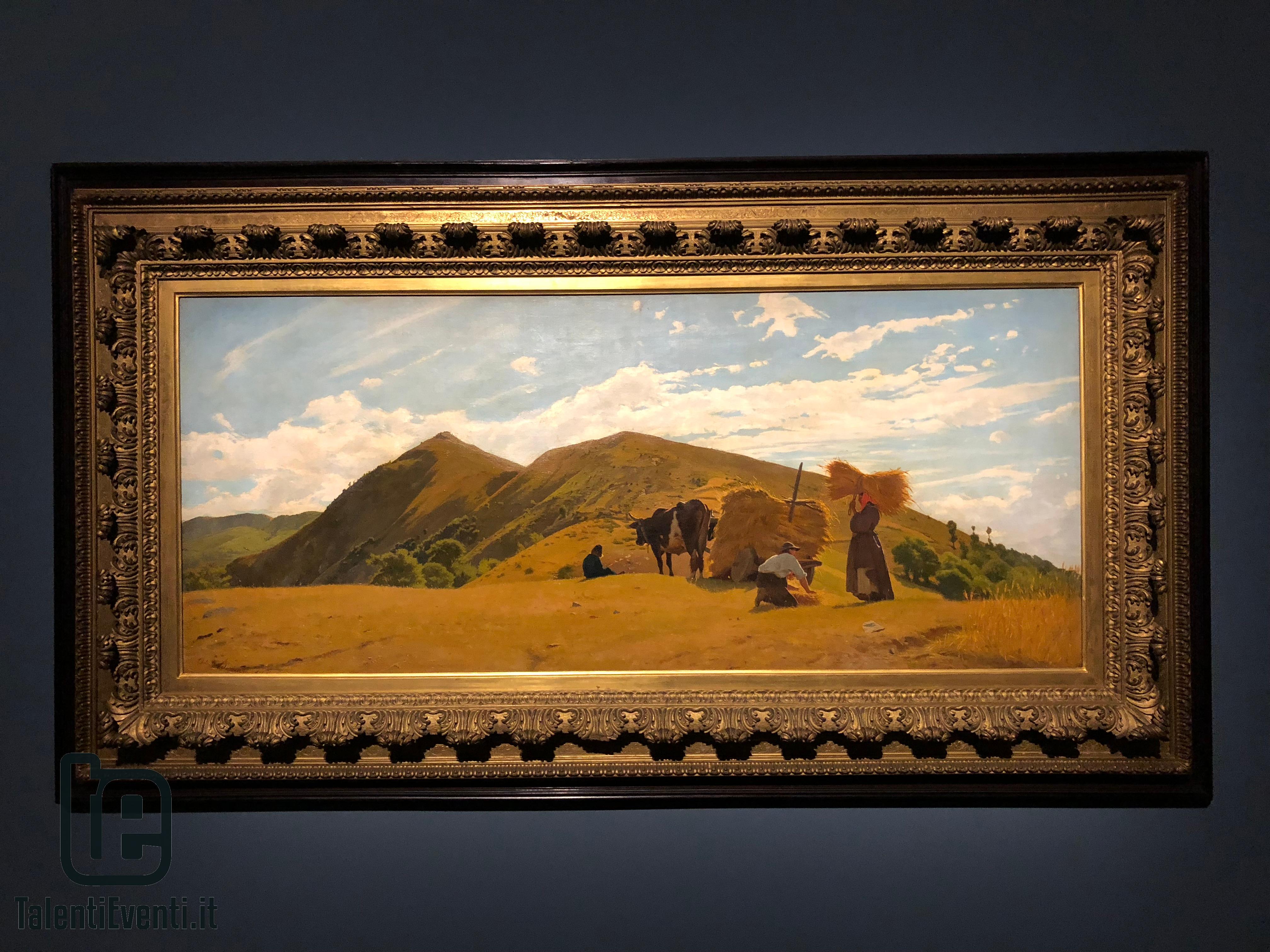 Odoardo Borrani - La raccolta del grano sull'Appennino - 1861