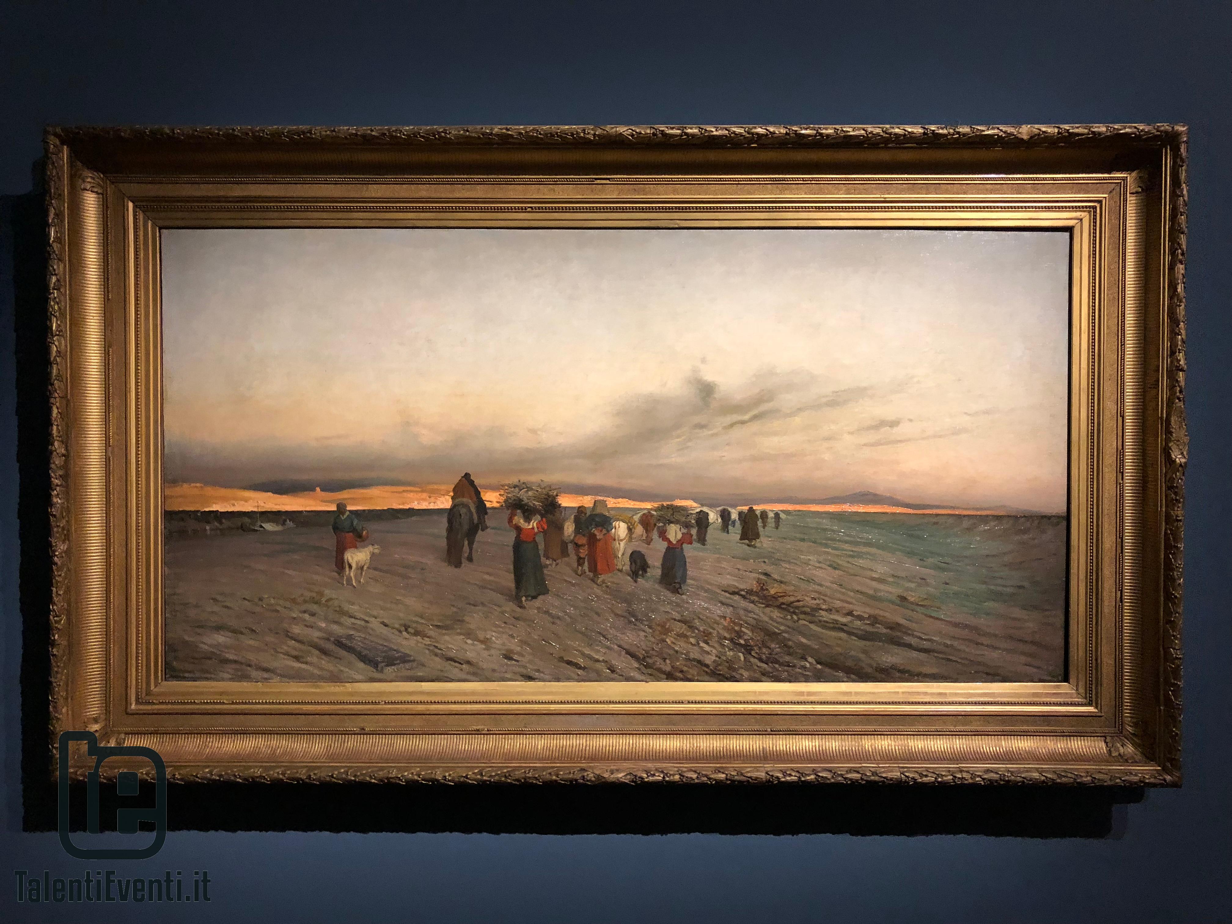 Alfredo D'Andrade - Ritorno dai boschi al tramonto - 1869