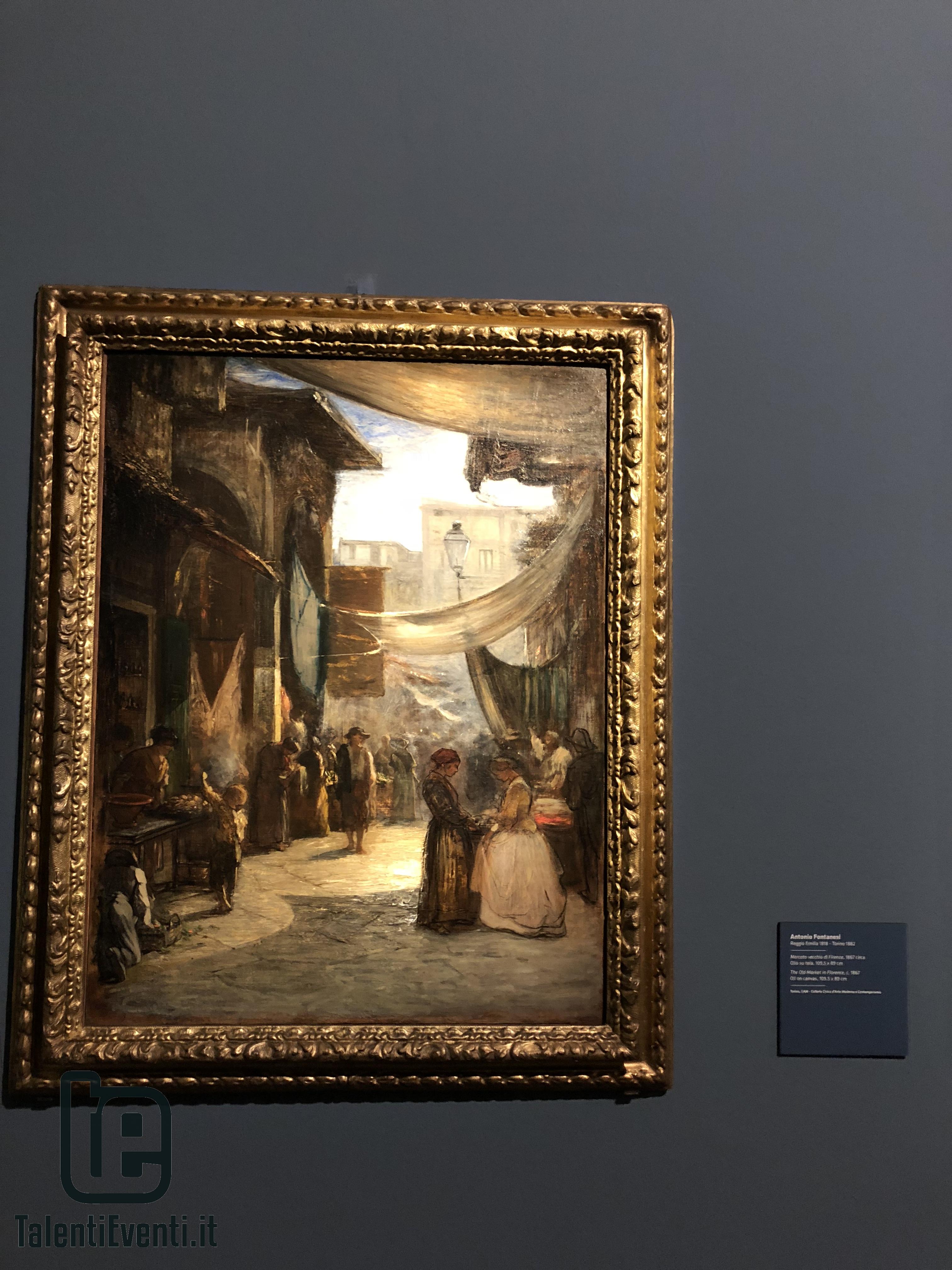 Antonio Fontanesi - Mercato vecchio di Firenze - 1867