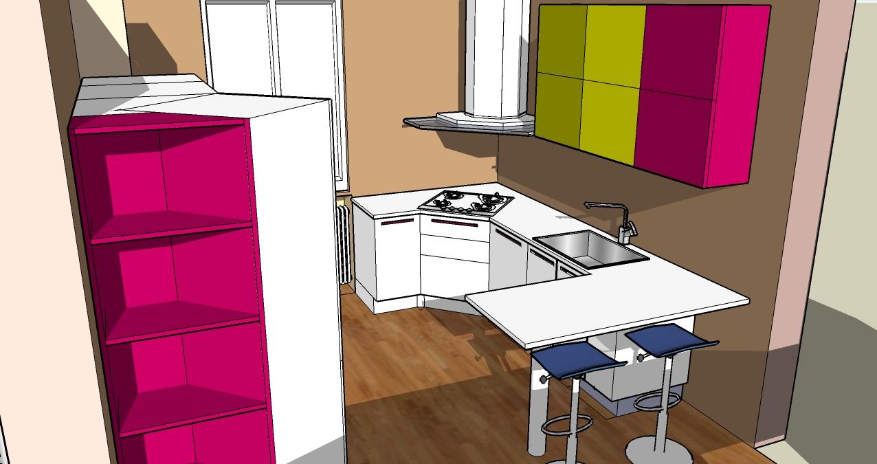 Progettazione zona giorno open space - Cucina living e salotto