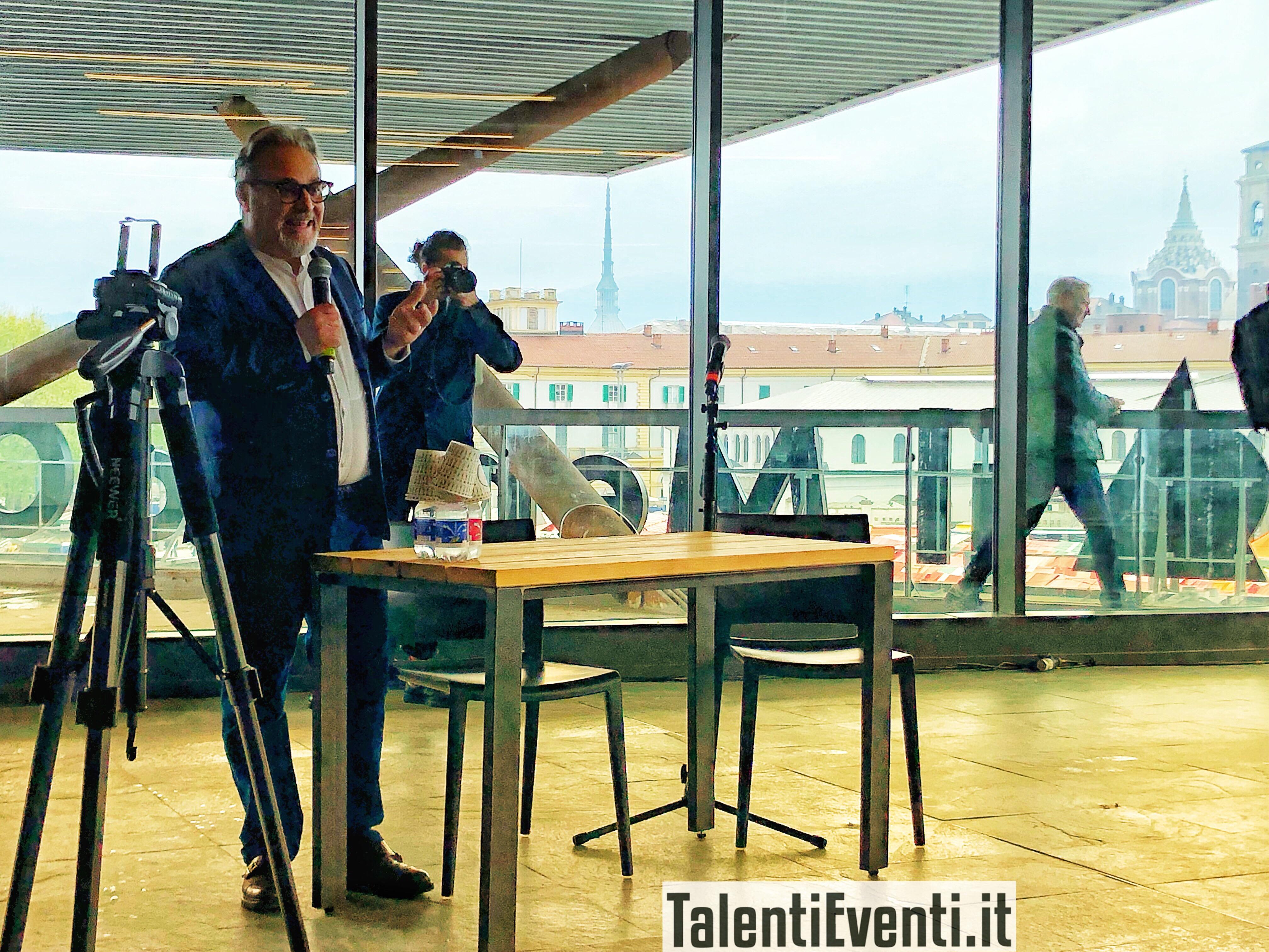 Umberto Montano alla conferenza stampa del 13 aprile 2019